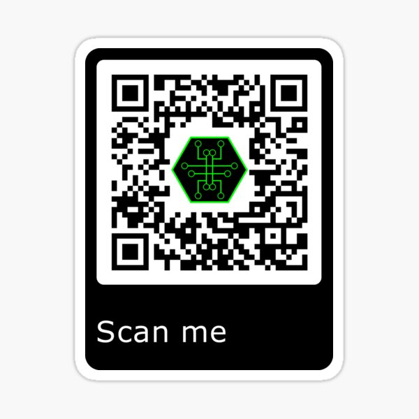 SCAN ME Sticker