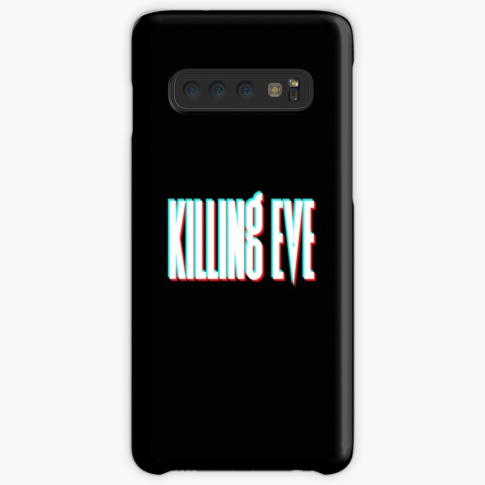 Killing Eve Retro Blur Logo - White Case & Skin for Samsung Galaxy