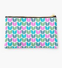 Tulip Knit (Blue Pink Green) Studio Pouch