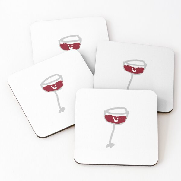 Red Wine Glass Drink Pub Bar Kitchen Old Advert Drinks Table Coaster