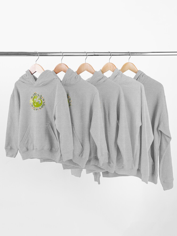 Alternate view of Mama and Baby Dragon Kids Pullover Hoodie