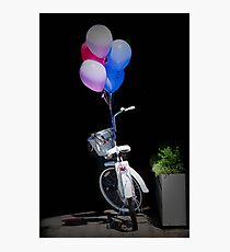 Birthday Bicycle Photographic Print