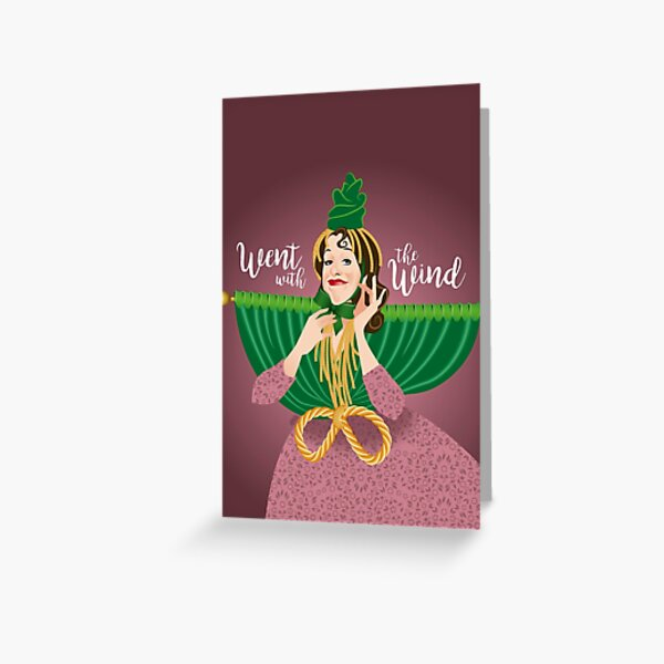 Went with the wind Greeting Card