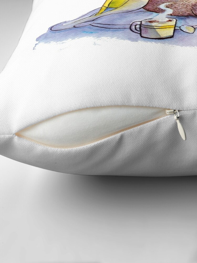 Alternate view of Cozy Sloth Throw Pillow