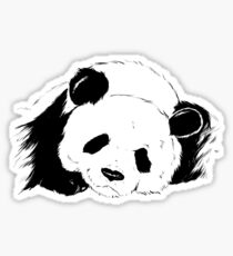 Slumbering Panda Sticker