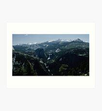 Nevada and Vernal Falls Art Print