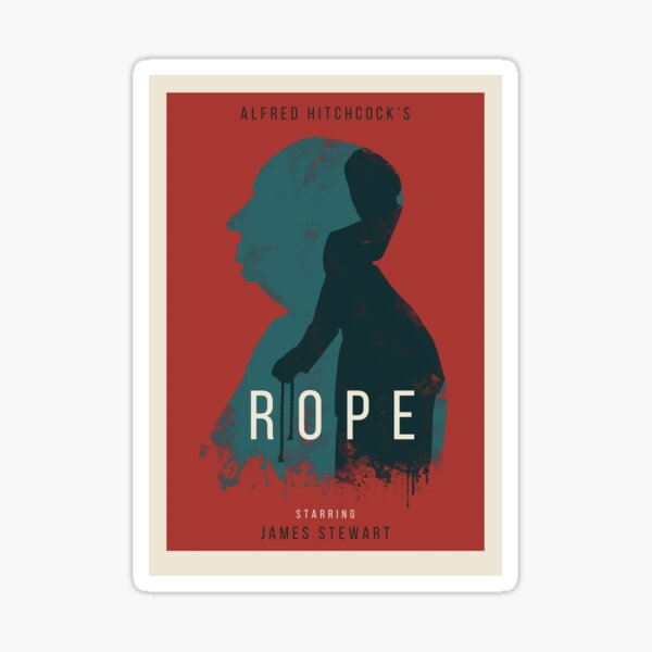 Alfred Hitchcock Rope Sticker