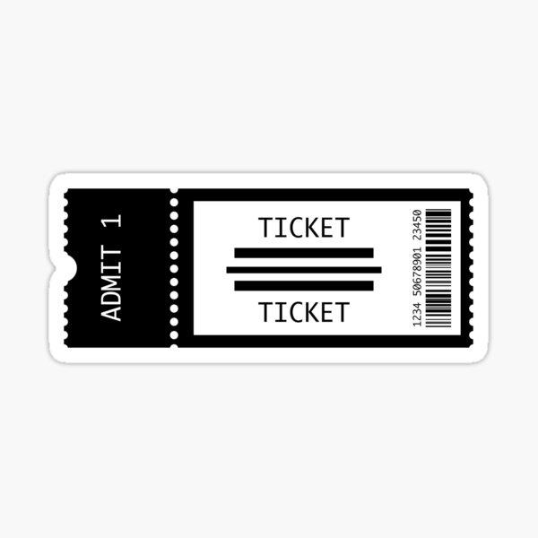 Concert Tickets Sticker