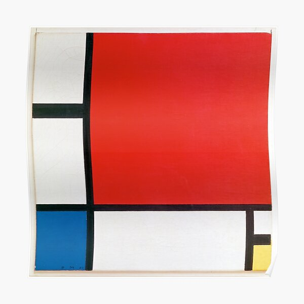 Composition II in Red Blue and Yellow by Piet Mondrian (1930) Poster