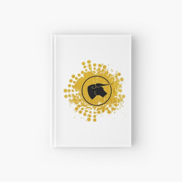 Black Bull - Black on Gold on White Hardcover Journal