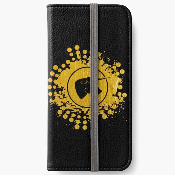 Black Bull - Black on Gold on Black iPhone Wallet
