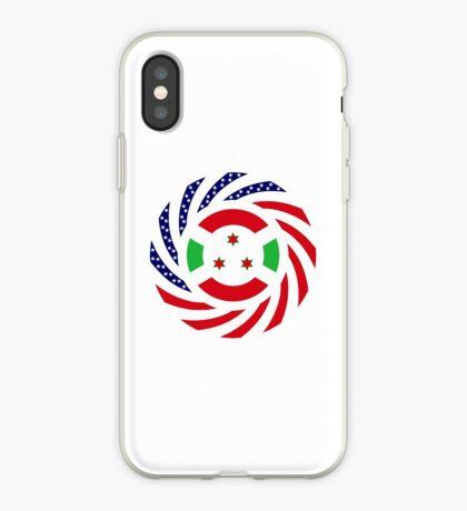 Burundian American Multinational Patriot Flag Series iPhone Case