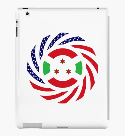 Burundian American Multinational Patriot Flag Series iPad Case/Skin