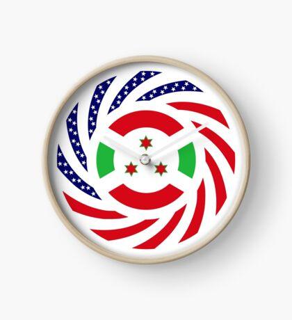 Burundian American Multinational Patriot Flag Series Clock