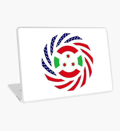 Burundian American Multinational Patriot Flag Series Laptop Skin