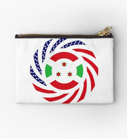 Burundian American Multinational Patriot Flag Series Zipper Pouch