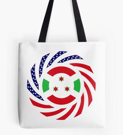 Burundian American Multinational Patriot Flag Series Tote Bag