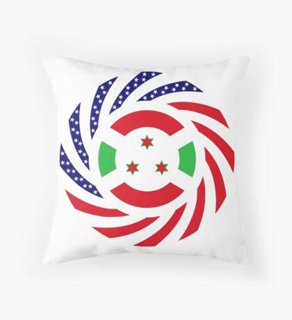 Burundian American Multinational Patriot Flag Series Floor Pillow