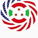 Burundian American Multinational Patriot Flag Series by Carbon-Fibre Media