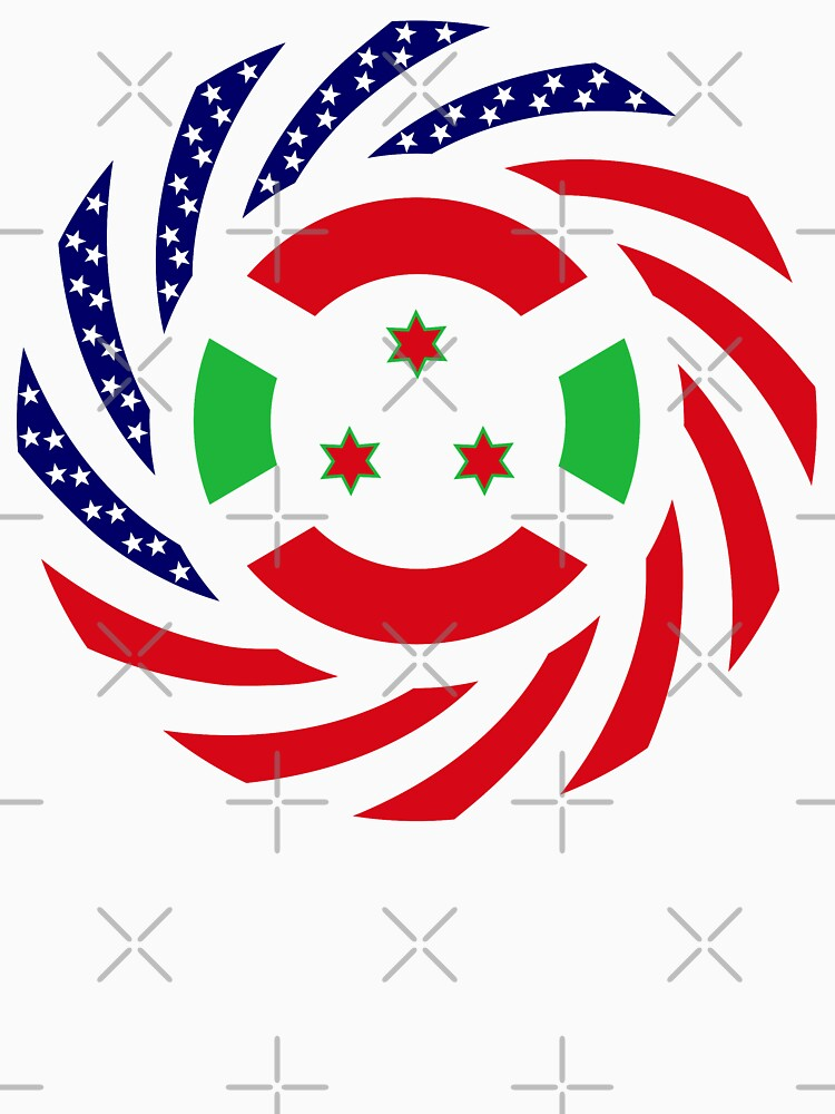 Burundian American Multinational Patriot Flag Series by carbonfibreme