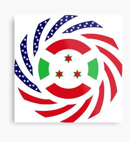 Burundian American Multinational Patriot Flag Series Metal Print