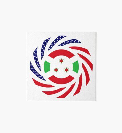 Burundian American Multinational Patriot Flag Series Art Board Print