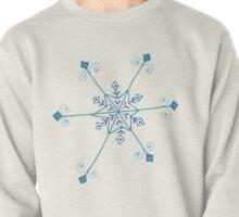 "Whimsical Blue Snowflake ""Georgine"" Pullover"