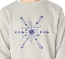 """Whimsical Blue Snowflake """"Marion"""" Pullover"""