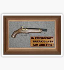 Emergency Flintlock Pistol Sticker