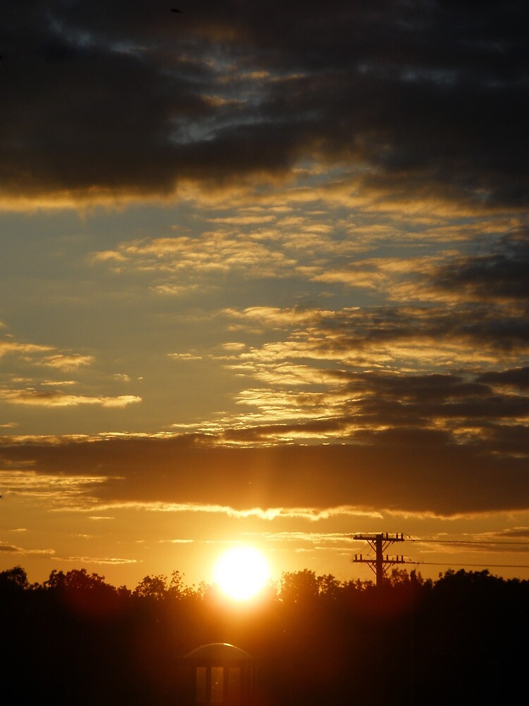 Time Machine Sunset by Mellinda