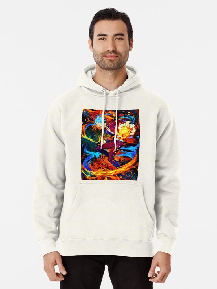 Colorful Fox Mens Pullover Hoodies Hooded Sweatshirts
