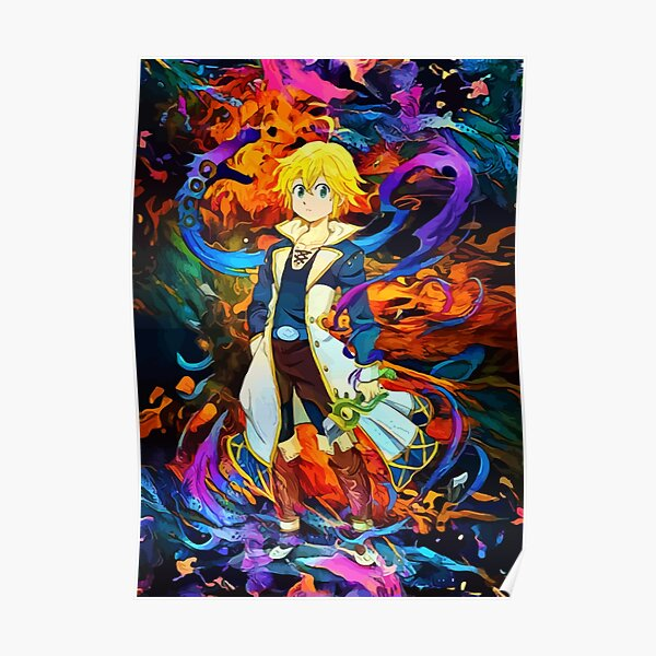 colorful Dragons Sin Poster