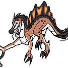 Spencer the Spinosaurus Sticker by zuperbuuworks