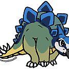 Steve the Stegosaurus Sticker by zuperbuuworks
