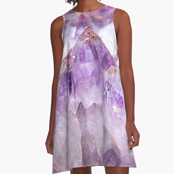 Amethyst Crystal A-Line Dress
