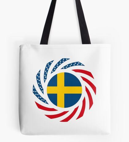 Swedish American Multinational Patriot Flag Series Tote Bag