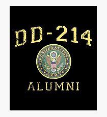 Lámina fotográfica Camisa del Ejército del EE. UU. Alumni Hero Veteran DD214 T Shirt