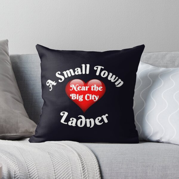 Ladner A Small Town Near the Big City in South Delta  Throw Pillow
