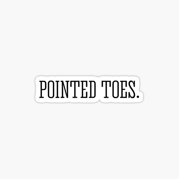 Pointed Toes Sticker