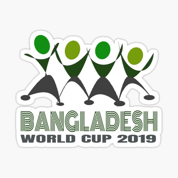 Bangladesh Cricket Supporter Sticker
