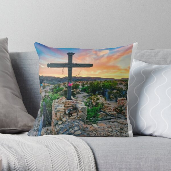 Terlingua Ghost Town Texas Throw Pillow
