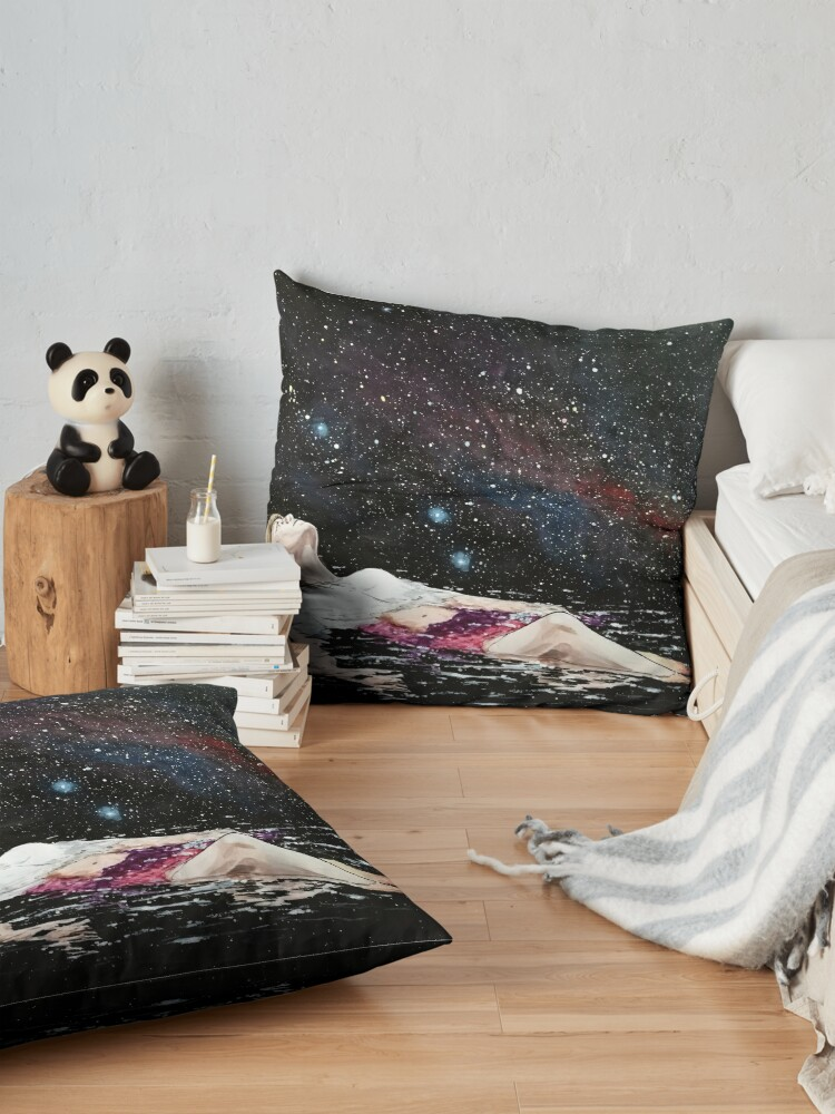 Alternate view of drifting Floor Pillow