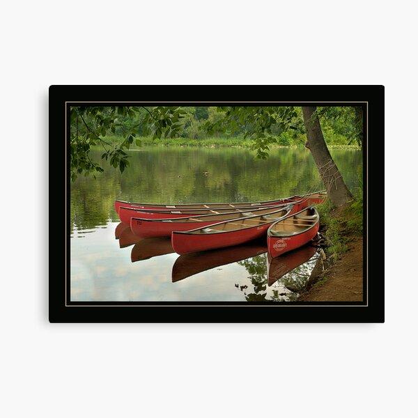 Canoes at Rest Clinton, NJ Canvas Print