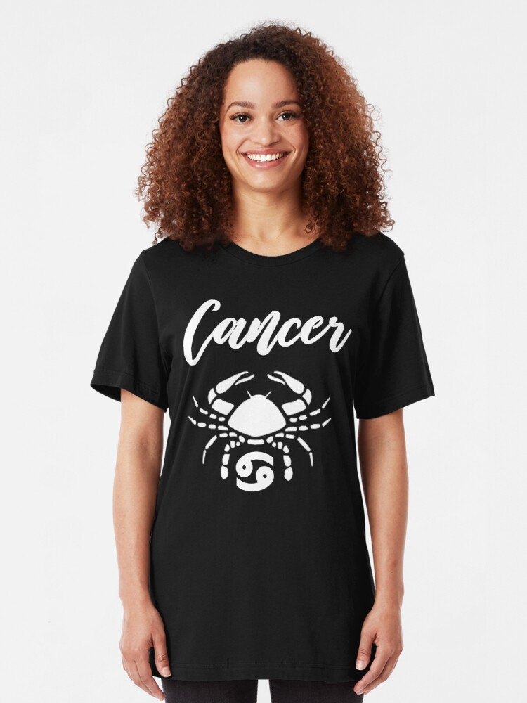 Alternate view of Cancer T-Shirt Slim Fit T-Shirt