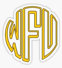 wake forest monogram Sticker