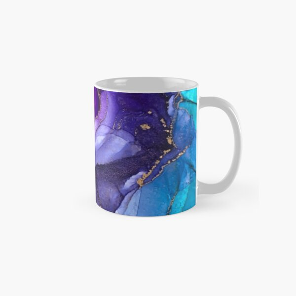 Ombre arc-en-ciel vibrant abstrait Mug classique