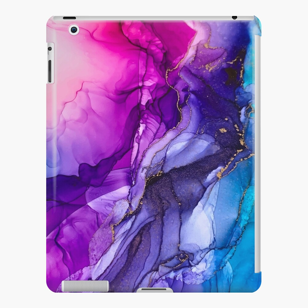 Abstract Vibrant Rainbow Ombre iPad Case & Skin