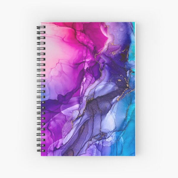 Abstract Vibrant Rainbow Ombre Spiral Notebook