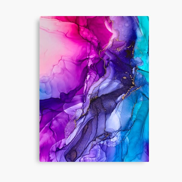 Bright Colourful Rainbow Vibrant Large Abstract Canvas Painting Print Art Work