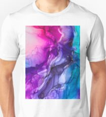 Abstract Vibrant Rainbow Ombre Slim Fit T-Shirt